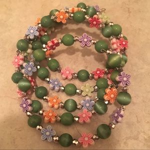 Floral / Flower wrap around bracelet